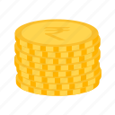 business, coins, indian, rupee icon