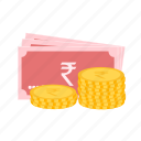business, change, coins, money, notes icon