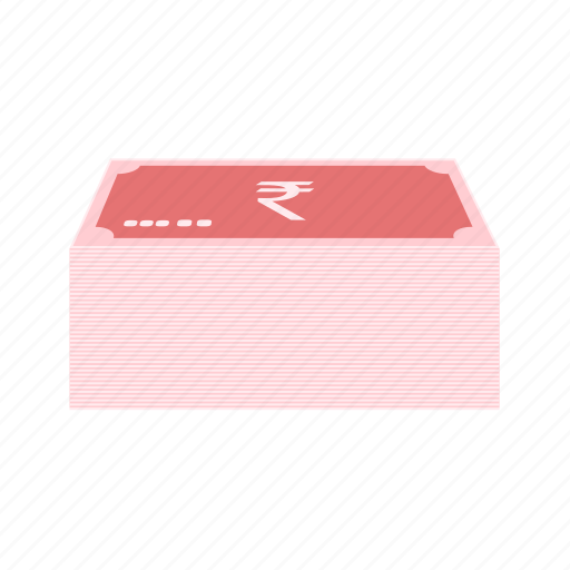 business, indian, money, notes, rupee icon