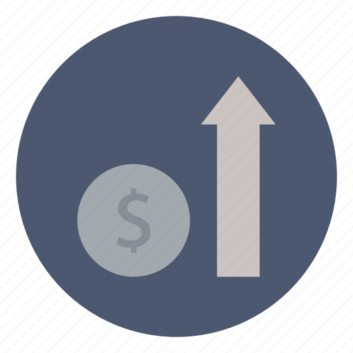 business, finance, growth, improve, increase, revenue icon