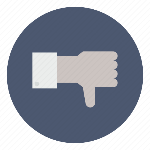 business, disapprove, dislike, down, downvote, thumbs, vote icon