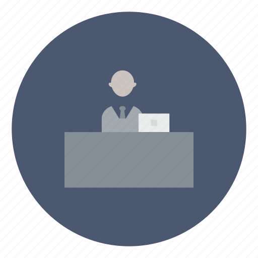 business, computer, desk, laptop, office, working, workplace icon