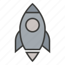 business, launch, marketing, promote, rocket, science, space icon