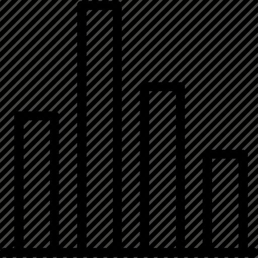 barchart, chart, diagram, graph, histogram, marketing icon
