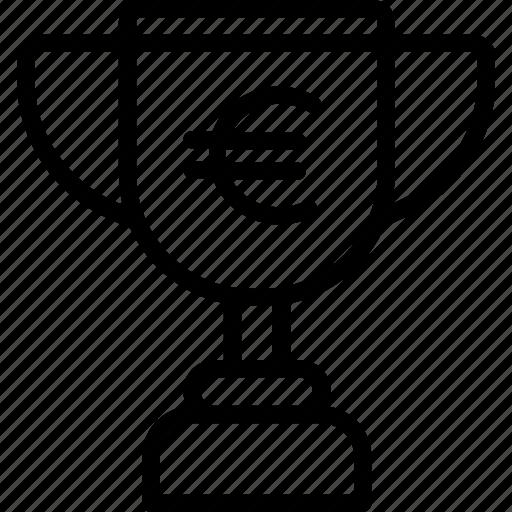 euro, prize, trophy, winner icon