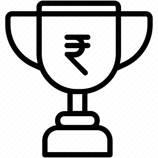 currency, prize, rupee, rupees, trophy, winner icon