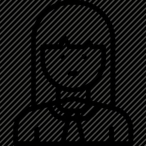 businesswoman, employee, girl, woman icon