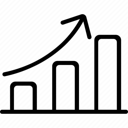 graph, growth, increment, market, profit icon