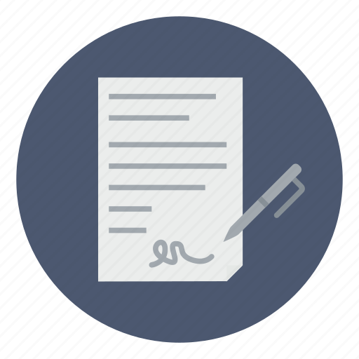 agreement, business, contract, deal, document, sign, signature icon