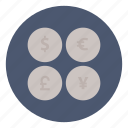 business, commerce, currency, dollar, exchange, finance, money icon