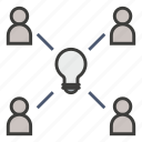 brainstorm, business, creative, idea, people, put heads together, think icon