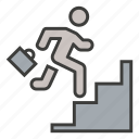 business, career, employee, growth, ladder, success, up icon