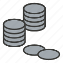 bank, business, cash, coins, commerce, finance, money icon