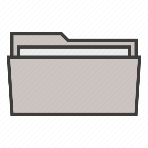 archive, business, documents, files, folder, open, portfolio icon