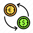 bill, coin, currency, money, value icon