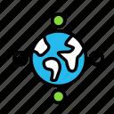 conference, earth, news, spread icon