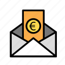 currency, envelopeeuro, monetize, value icon