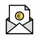 currency, envelopeeuro, monetize, valuecec icon