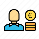 currency, euro, monetize, valuecoins icon