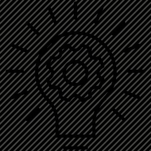 creative, idea, idea development, lightbulb icon icon