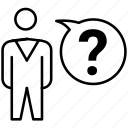 brainstorming, confuse, confusion, question, thinking icon icon