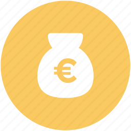 cash, cash bag, euro, euro currency, euro sack, money sack icon