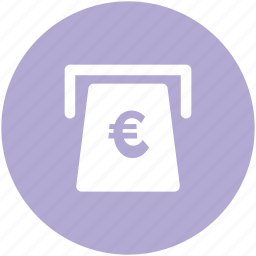 atm, atm withdrawal, cash withdrawal, euro, euro currency, euro withdrawal, transaction icon