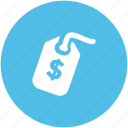 commercial tag, dollar sign, dollar tag, label, price label, price tag icon