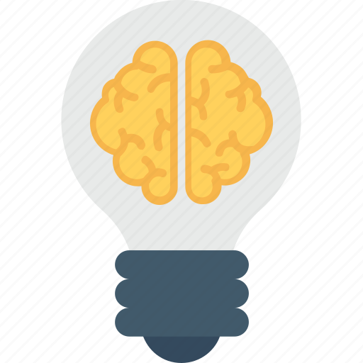 brain, bulb, creative mind, innovative, intelligent icon