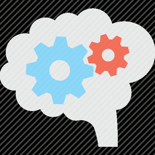 brainstorming, cog, creativity, head, thinking icon