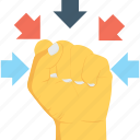 gesture, hand, knuckle, will, willpower icon