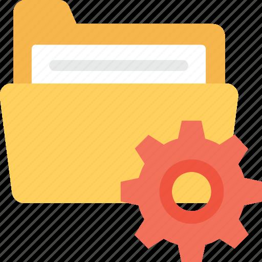 cog, file folder, folder, folder setting, preferences icon