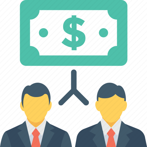 bankers, banknote, businessmen, businessperson, partnership icon