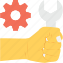 cog, handyman, services, spanner, technical service icon