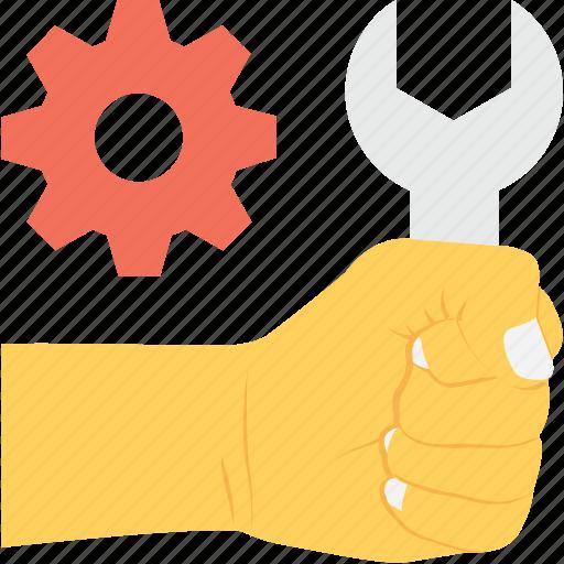 cog, handyman, services, spanner, technical service icon