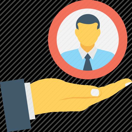 candidate, employment, hr, man, recruitment icon