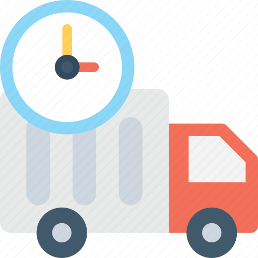 cargo, clock, delivery timing, logistics, shipping time icon