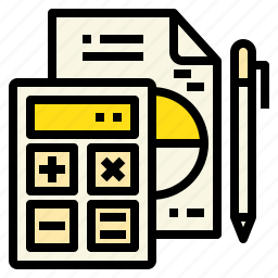 business, calculator, connection, marketing, report icon