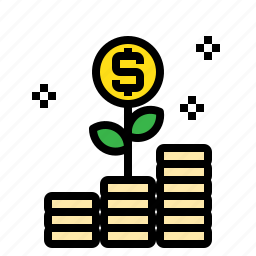 business, coins, connection, growth, marketing icon