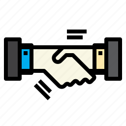 business, connection, hand, marketing, shake icon