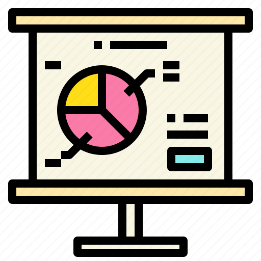 business, connection, marketing, presentation, report icon