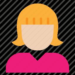 avatar, business, businesswoman, employee, woman, worker icon