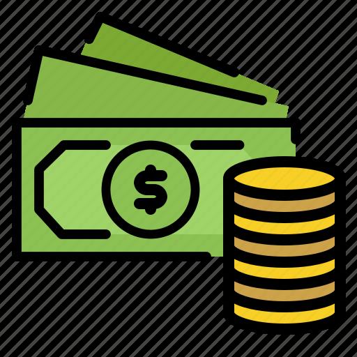 bag, bank, dollars, money icon