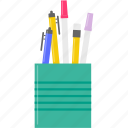 pen, pencil, pencil case, study icon