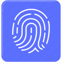 banking, finance, finger print, identity, security icon