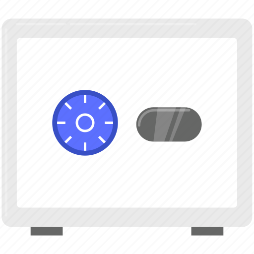 finance, lock, safety box, security icon