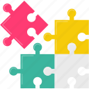 jigsaw, puzzle icon