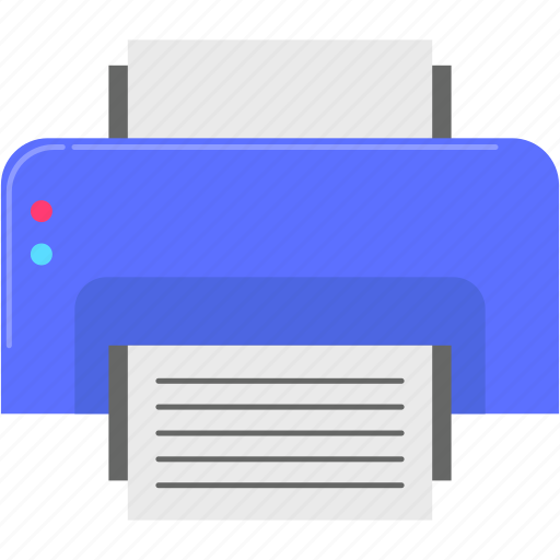 computer, document, office, printer icon