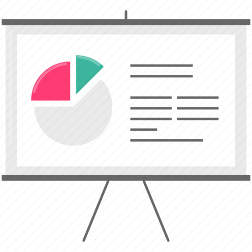 board, chart, financial, presentation icon