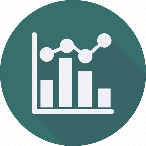 business, chart, finance, financial, line, profit, statistics icon